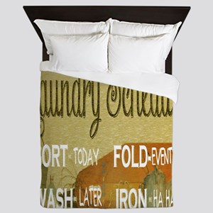 laundry schedule fun Queen Duvet