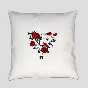 Red Rose Everyday Pillow