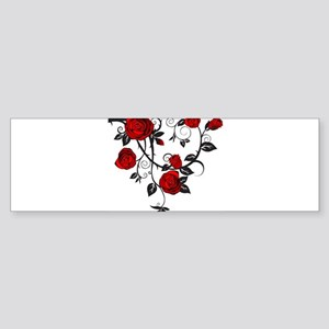 Red Rose Bumper Sticker