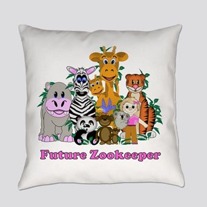 Future Zookeeper Girl Everyday Pillow