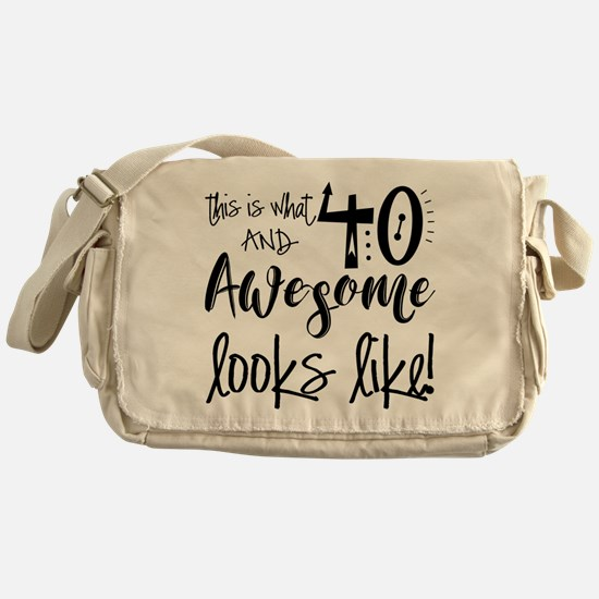 Awesome 40 Years Old Messenger Bag