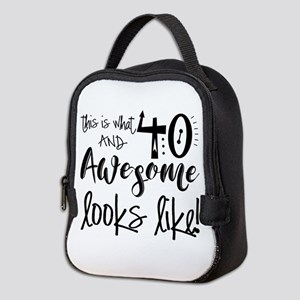 Awesome 40 Years Old Neoprene Lunch Bag