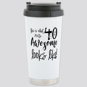 Awesome 40 Years Old Stainless Steel Travel Mug