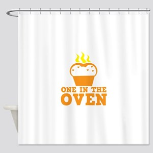 One in the OVEN Shower Curtain