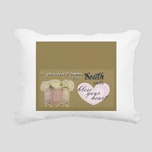 Bless Your Heart Rectangular Canvas Pillow