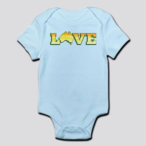 Aussie Australian map in LOVE Body Suit
