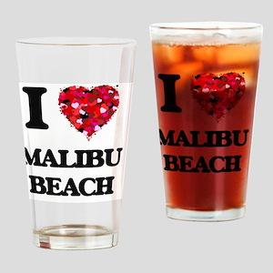 I love Malibu Beach California Drinking Glass
