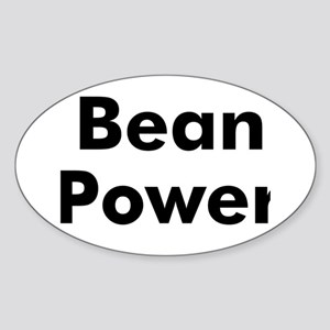 Bean Power Oval Sticker
