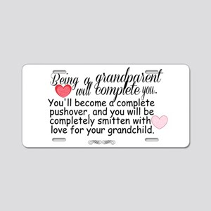 being a grandparent Aluminum License Plate