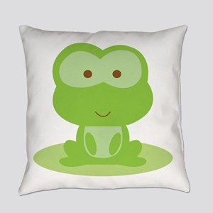 Green Frog Everyday Pillow