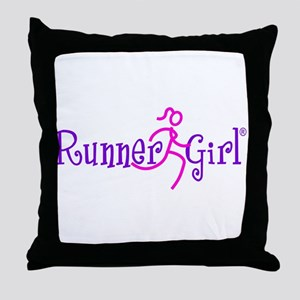 RunnerGirl Throw Pillow