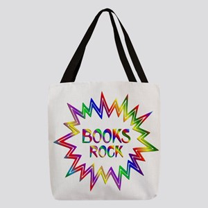 Books Rock Polyester Tote Bag