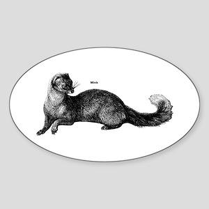 Mink Oval Sticker