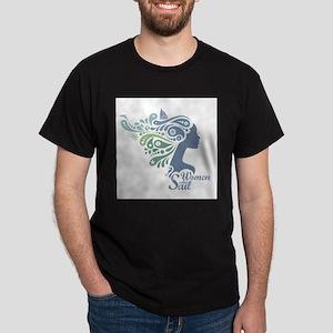 Woman Who Sail Logo Dark T-Shirt