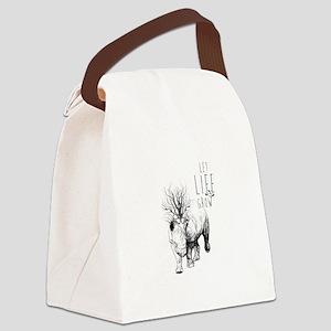 Let Life Grow , Rhino. Canvas Lunch Bag