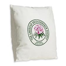 A R S Logo Burlap Throw Pillow