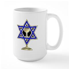 Jewish Star Large Mug