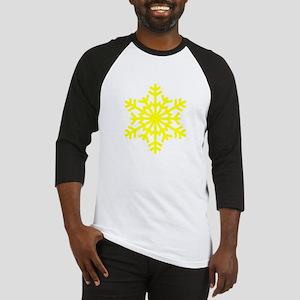 Yellow Snowflake Baseball Jersey