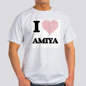 I love Amiya (heart made from words) desig T-Shirt