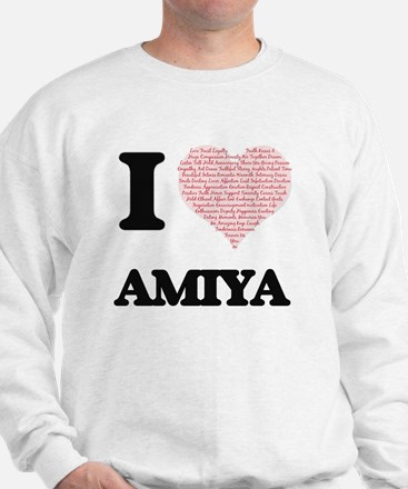 I love Amiya (heart made from words) de Sweatshirt