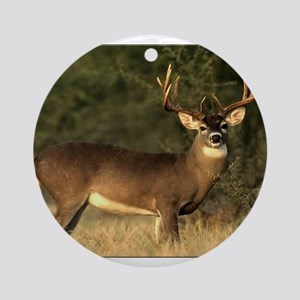 Beautiful Buck Round Ornament