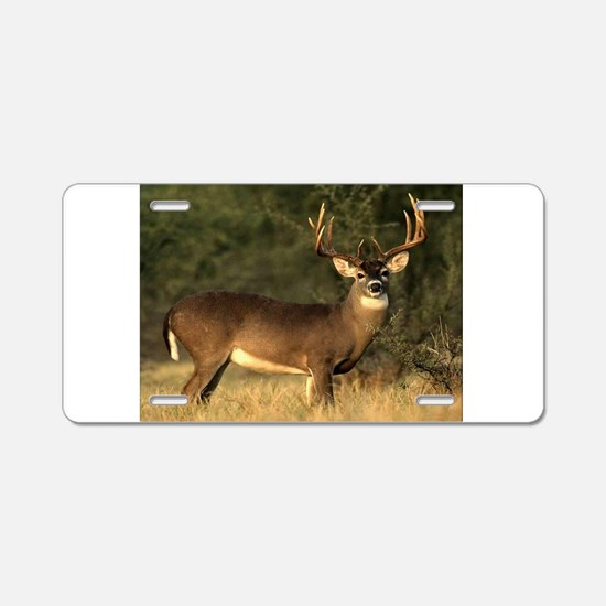 Beautiful Buck Aluminum License Plate