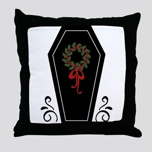 Vampire Holiday Coffin Throw Pillow