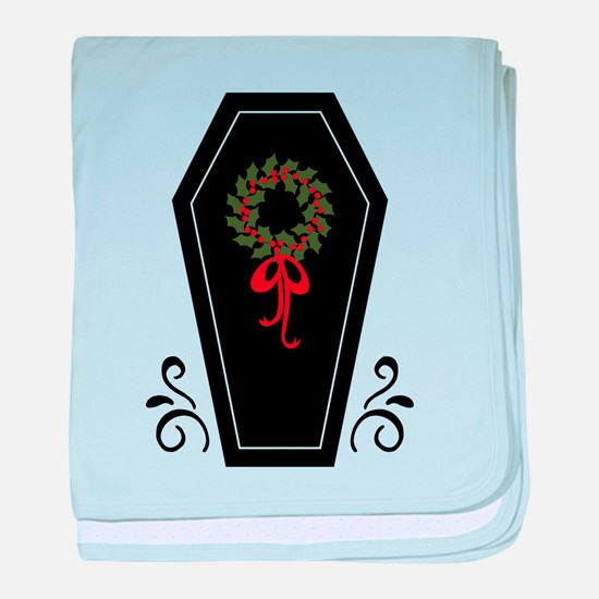 Vampire Holiday Coffin baby blanket