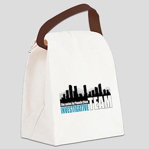 Large Blue I-Team logo Canvas Lunch Bag