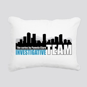 Large Blue I-Team logo Rectangular Canvas Pillow