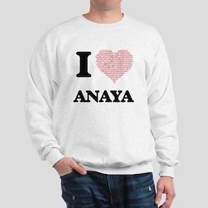 I love Anaya (heart made from words) de Sweatshirt