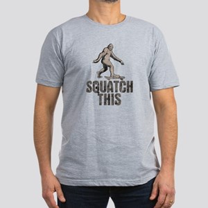 Squatch This Men's Fitted T-Shirt (dark)
