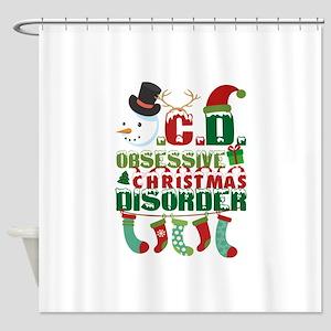 Christmas OCD Shower Curtain