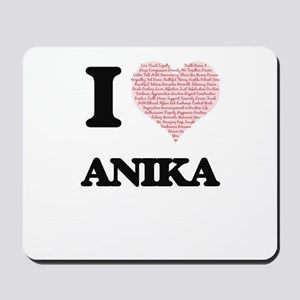I love Anika (heart made from words) des Mousepad