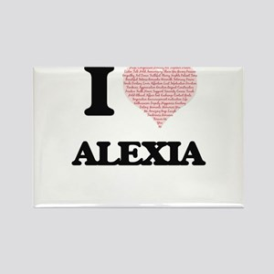I love Alexia (heart made from words) desi Magnets