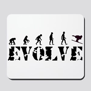 Skier Evolution Mousepad