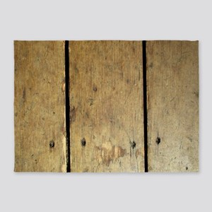 Rustic Wooden Planks 5'x7'Area Rug