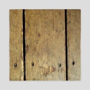 Rustic Wooden Planks Queen Duvet