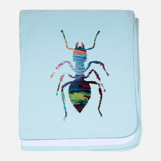 Colorful Ant painting baby blanket