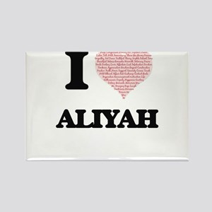 I love Aliyah (heart made from words) desi Magnets