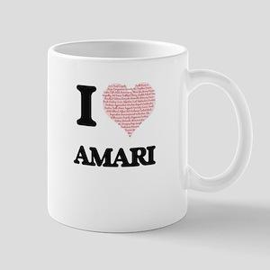I love Amari (heart made from words) design Mugs