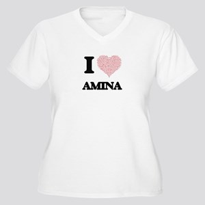 I love Amina (heart made from wo Plus Size T-Shirt