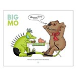 Big Mo & T.bear Small Poster