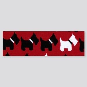 Scottish Terrier Scottie Dog Patter Bumper Sticker