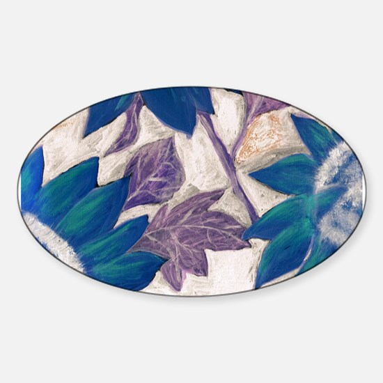 Sunflower Art Oval Decal