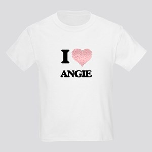 I love Angie (heart made from words) desig T-Shirt