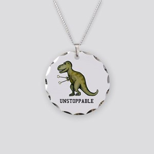 T-Rex Unstoppable Necklace Circle Charm