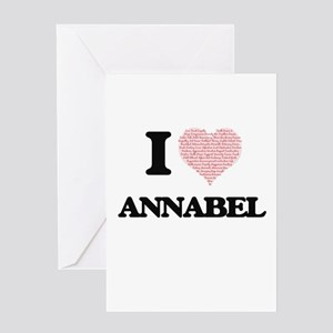 I love Annabel (heart made from wor Greeting Cards