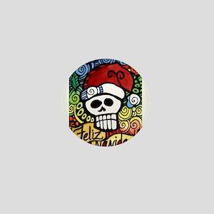 Day of the Dead Feliz Navidad Sugar Sk Mini Button