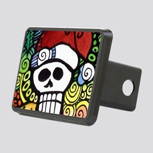 Day of the Dead Feliz Navi Rectangular Hitch Cover